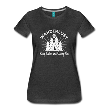 Load image into Gallery viewer, Women's Keep Calm, Camp On (white) - charcoal gray