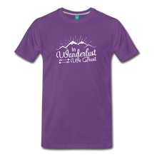 Load image into Gallery viewer, Men's Wanderlust T-Shirt (white) - purple