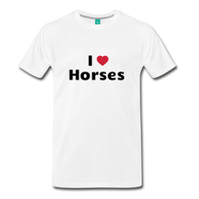 Load image into Gallery viewer, Men's I Love Horses T-Shirt - white