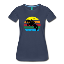 Load image into Gallery viewer, Women's Jumping Sun T-Shirt - navy