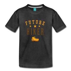 Toddler Future Hiker T-Shirt - charcoal gray
