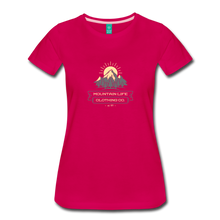 Load image into Gallery viewer, Women's Mountain Life Clothing Co T-Shirt - dark pink