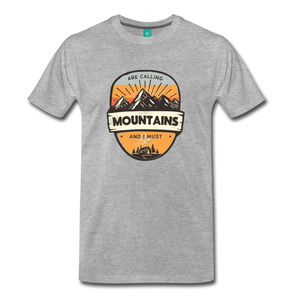 Men's Mountain's Calling T-Shirt - heather gray