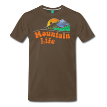 Load image into Gallery viewer, Men's 60s Mountain T-Shirt - noble brown