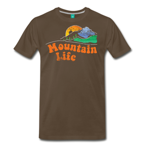Men's 60s Mountain T-Shirt - noble brown