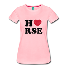 Load image into Gallery viewer, Women's Horse Large Letters T-Shirt - pink