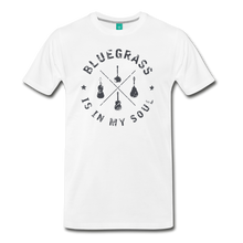 Load image into Gallery viewer, Men's Bluegrass is in my Soul T-Shirt - white