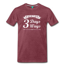 Load image into Gallery viewer, Men's 3 Days 3 Ways T-Shirt - heather burgundy