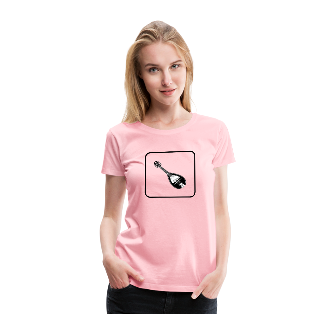 Women's Mandolin Icon T-Shirt - pink