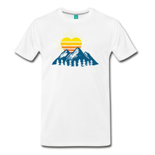 Load image into Gallery viewer, Men's Mountains Sun Heart T-Shirt - white