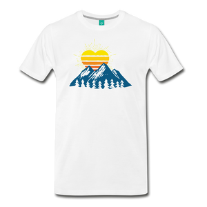 Men's Mountains Sun Heart T-Shirt - white