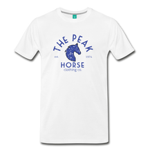 Load image into Gallery viewer, Men's The Peak Horse (art-deco) T-Shirt - white