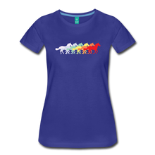 Load image into Gallery viewer, Women's Retro Rainbow Horse T-Shirt - royal blue