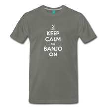 Load image into Gallery viewer, Men's Keep Calm and Banjo On T-Shirt - asphalt