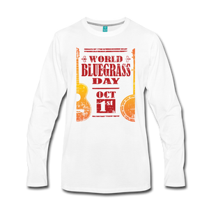 Men's Faded World Bluegrass Day Long Sleeve T-Shirt - white