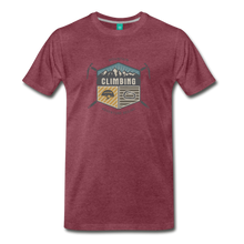 Load image into Gallery viewer, Men's Climbing T-Shirt - heather burgundy