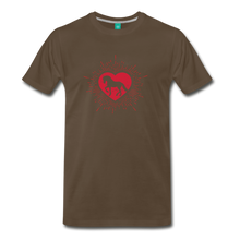 Load image into Gallery viewer, Men's Sunburst Heart Horse T-Shirt - noble brown