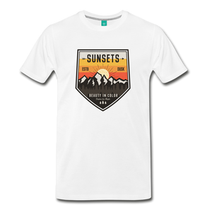 Men's Sunset T-Shirt - white