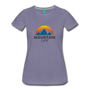 Women's Mountain Life Shirt - washed violet