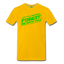 Load image into Gallery viewer, Men's May the Forest be with You T-Shirt - sun yellow