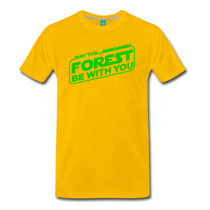 Men's May the Forest be with You T-Shirt - sun yellow