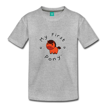 Load image into Gallery viewer, Toddler My First Pony T-Shirt (red) - heather gray