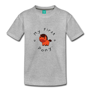 Toddler My First Pony T-Shirt (red) - heather gray
