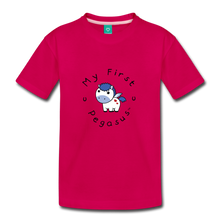 Load image into Gallery viewer, Toddler My First Pegasus T-Shirt (white/blue) - dark pink