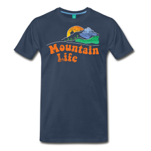 Load image into Gallery viewer, Men's 60s Mountain T-Shirt - navy
