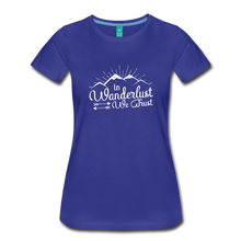 Load image into Gallery viewer, Women's Wanderlust T-Shirt (white) - royal blue