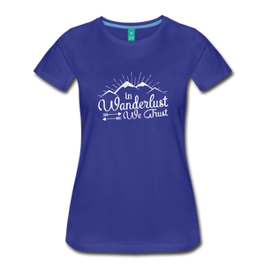 Women's Wanderlust T-Shirt (white) - royal blue