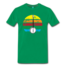 Load image into Gallery viewer, Men's Banjo Rainbow T-Shirt - kelly green