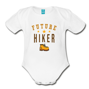 Future Hiker Baby Bodysuit - white