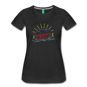 Women's Colored Explore More T-Shirt - black