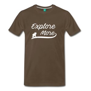 Men's Explore More T-Shirt - noble brown