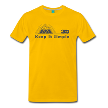 Load image into Gallery viewer, Men's RV Keep It Simple T-Shirt - sun yellow