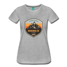 Load image into Gallery viewer, Women's Hiking T-Shirt - heather gray
