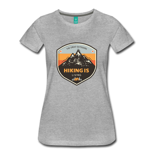 Women's Hiking T-Shirt - heather gray