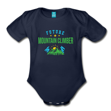 Load image into Gallery viewer, Future Mountain Climber Baby Bodysuit - dark navy
