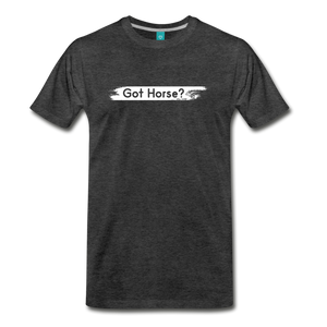 Men's Got Horse T-Shirt - charcoal gray