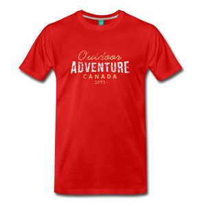 Men's Outdoor Adventure Canada T-Shirt - red
