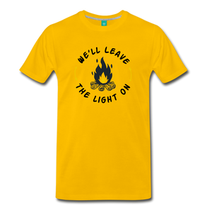 Men's We'll Leave the Light On T-Shirt - sun yellow