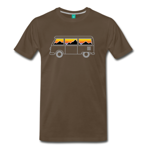 Men's Van Mountains T-Shirt - noble brown