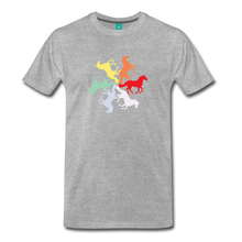 Load image into Gallery viewer, Men's Rainbow Horse Circle T-Shirt - heather gray