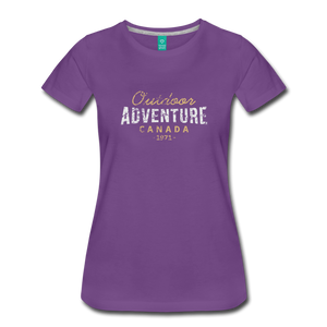 Women's Outdoor Adventure Canada T-Shirt - purple