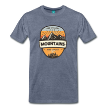 Load image into Gallery viewer, Men's Mountain's Calling T-Shirt - heather blue