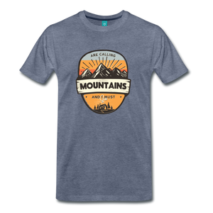 Men's Mountain's Calling T-Shirt - heather blue