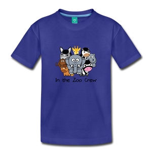 Toddler In the Zoo Crew T-Shirt - royal blue