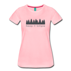 Women's Keep It Simple T-Shirt - pink