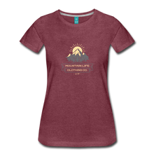 Load image into Gallery viewer, Women's Mountain Life Clothing Co T-Shirt - heather burgundy